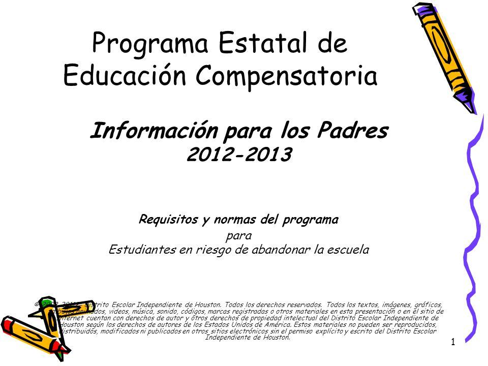 Programa Estatal de Educación Compensatoria