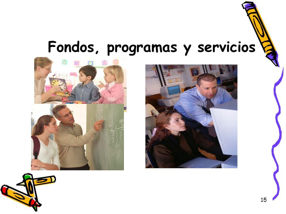 Fondos, programas y servicios