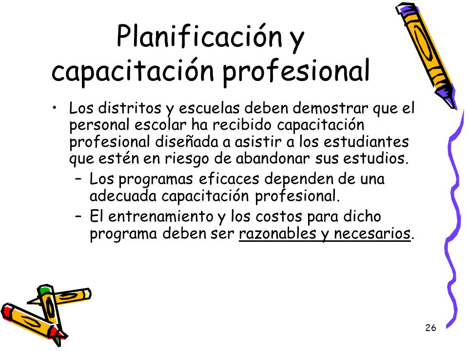 Planificación y capacitación profesional