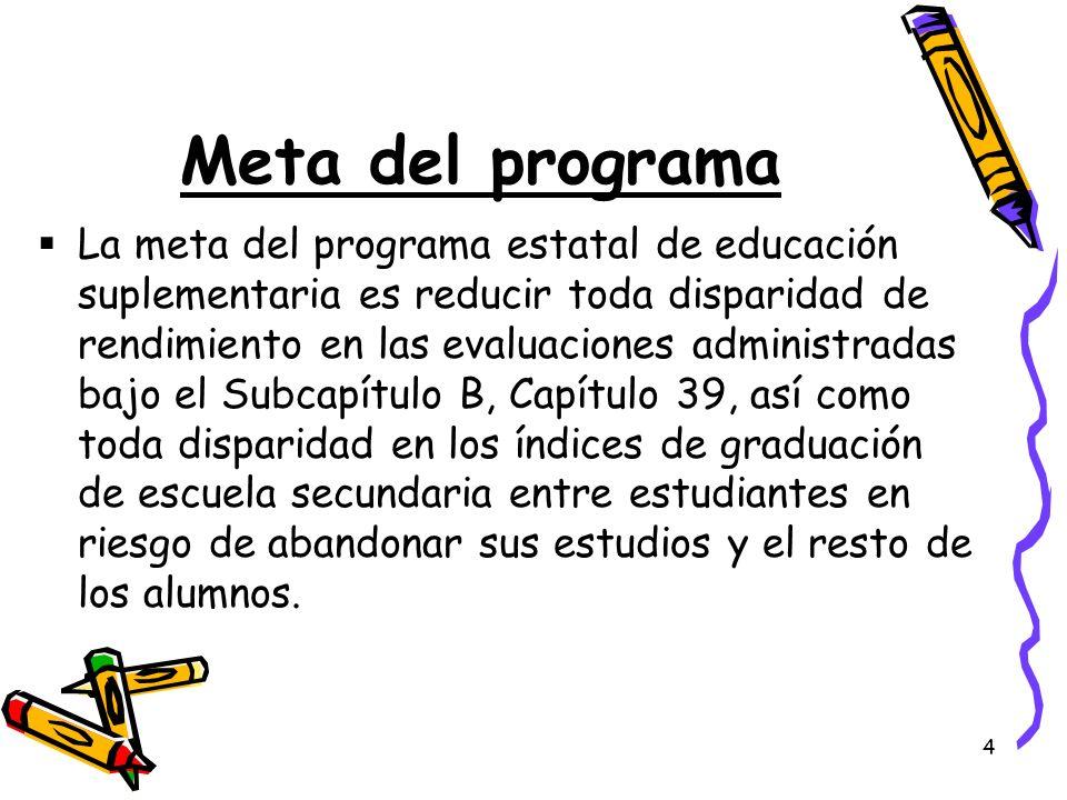 Meta del programa