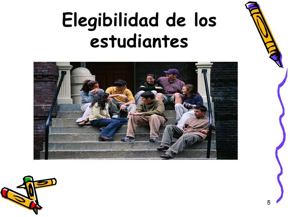 Elegibilidad de los estudiantes