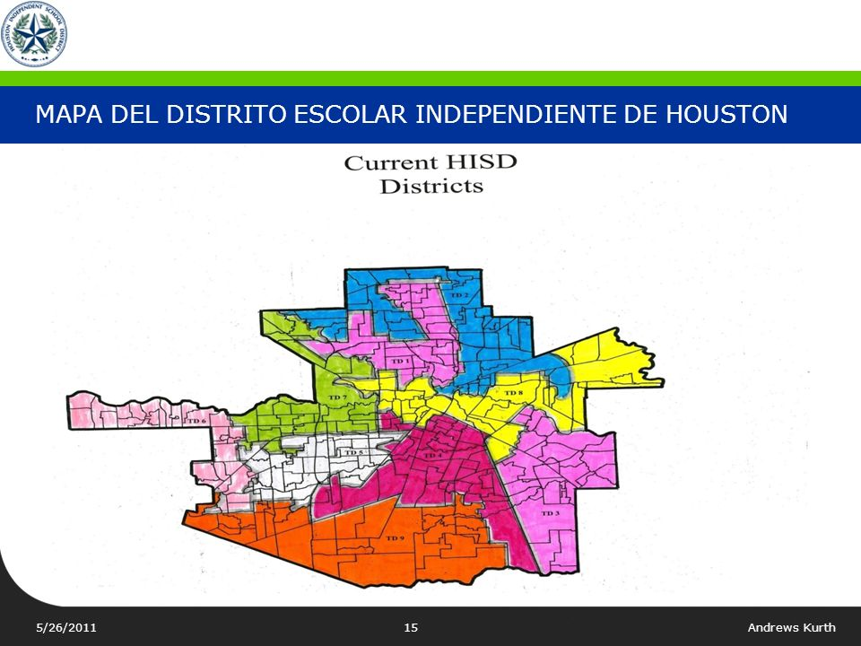 MAPA DEL DISTRITO ESCOLAR INDEPENDIENTE DE HOUSTON