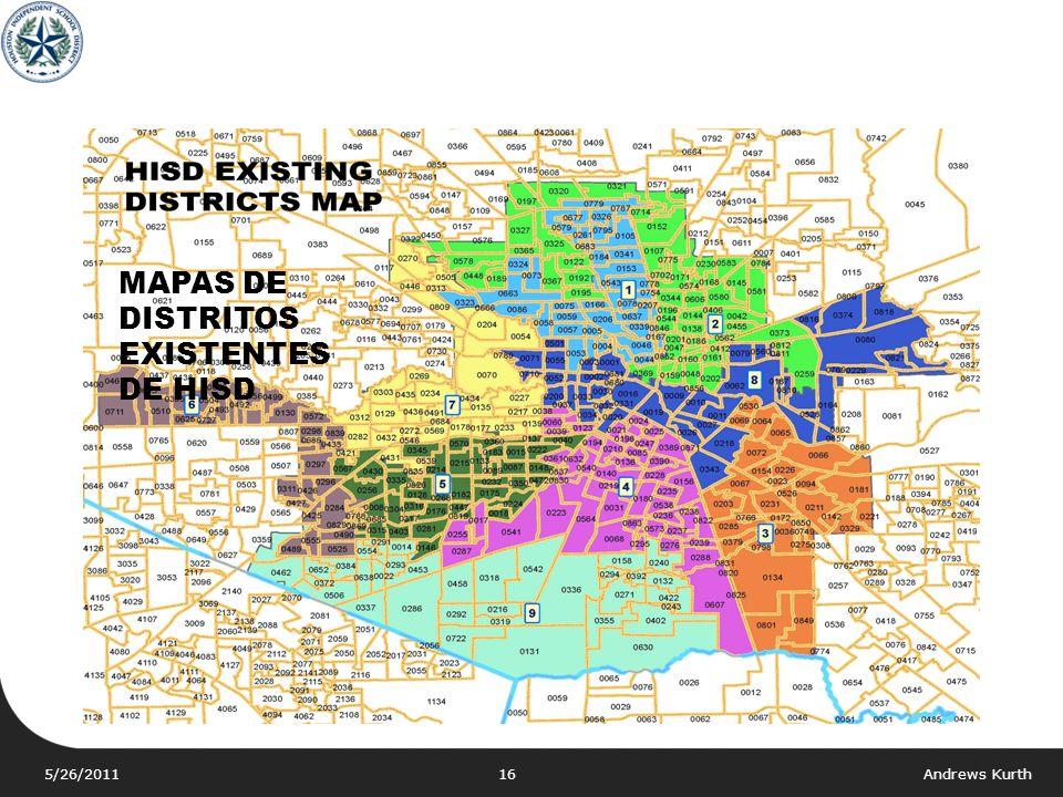 MAPAS DE DISTRITOS EXISTENTES DE HISD