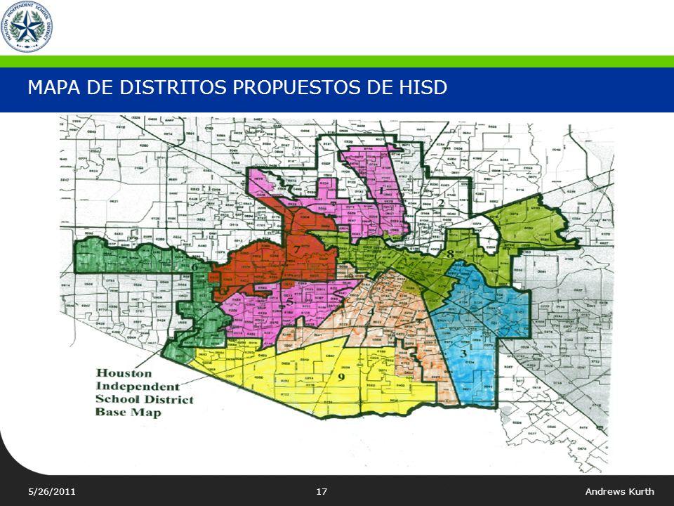 MAPA DE DISTRITOS PROPUESTOS DE HISD