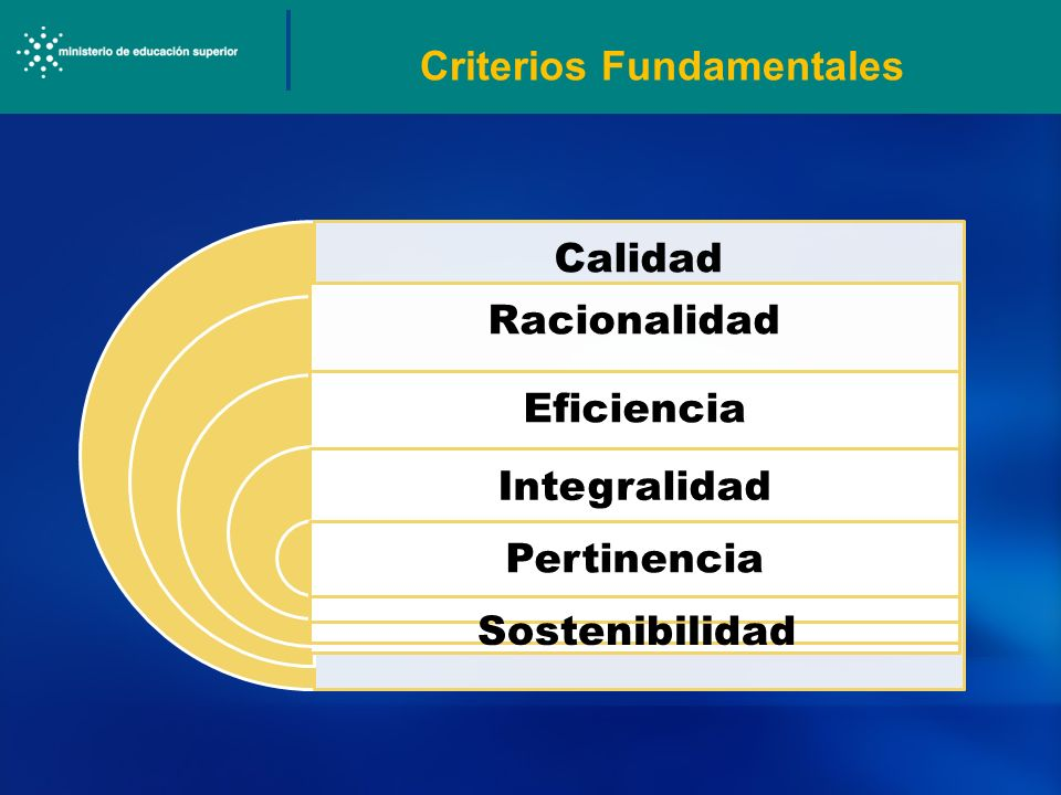 Criterios Fundamentales