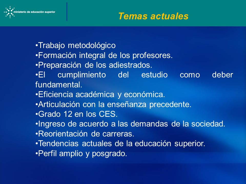 Temas actuales Trabajo metodológico