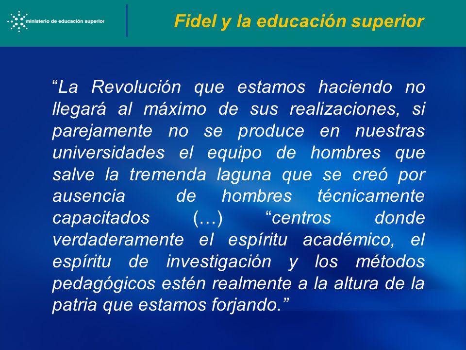 Fidel y la educación superior