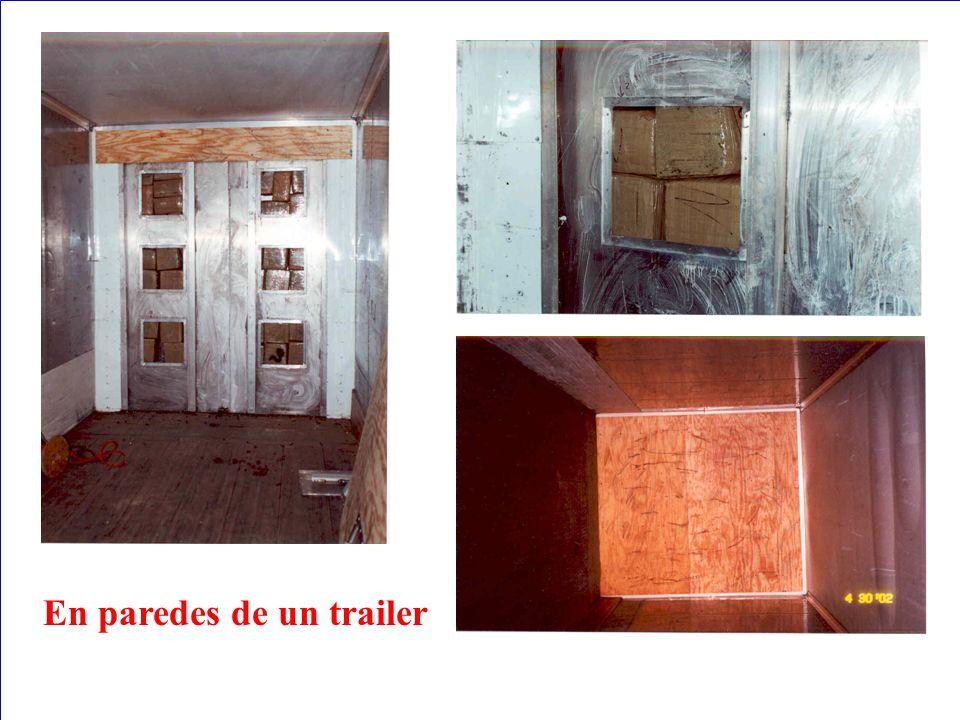 En paredes de un trailer