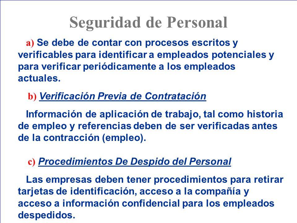 Seguridad de Personal