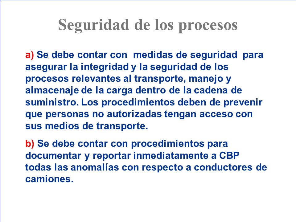 Seguridad de los procesos