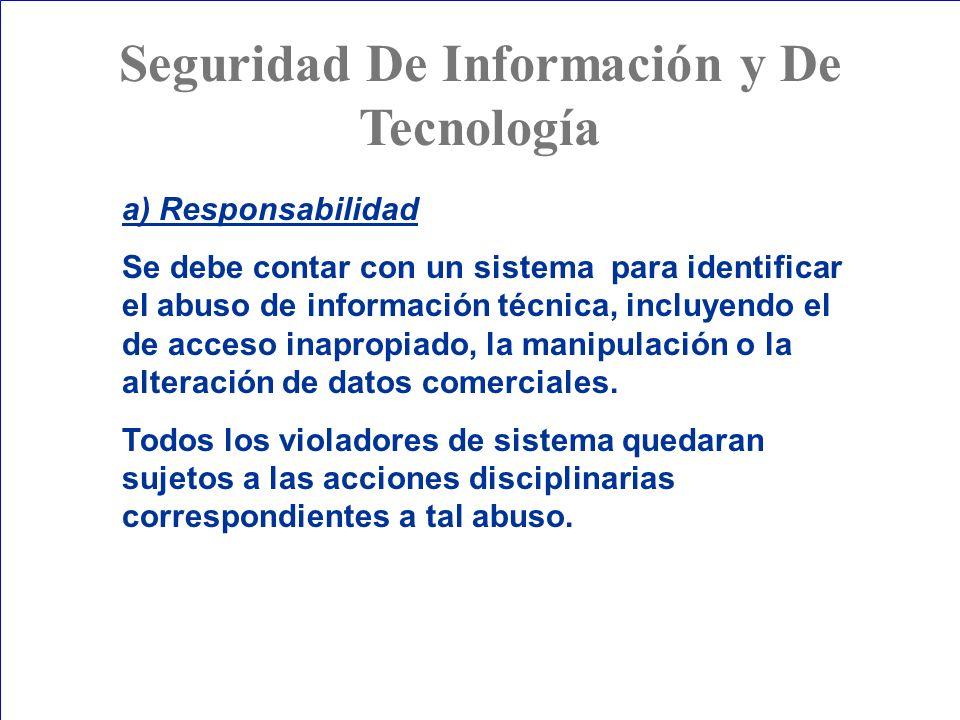 Seguridad De Información y De Tecnología
