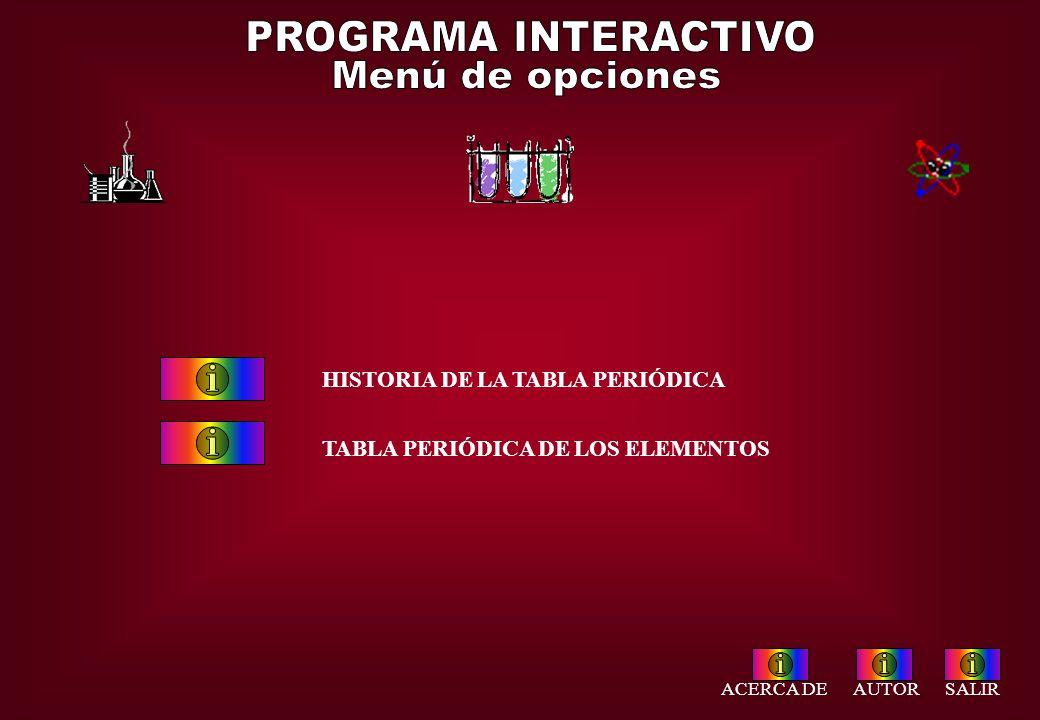 Programa interactivo tabla peridica de los elementos acceso salir programa interactivo men de opciones historia de la tabla peridica urtaz Images
