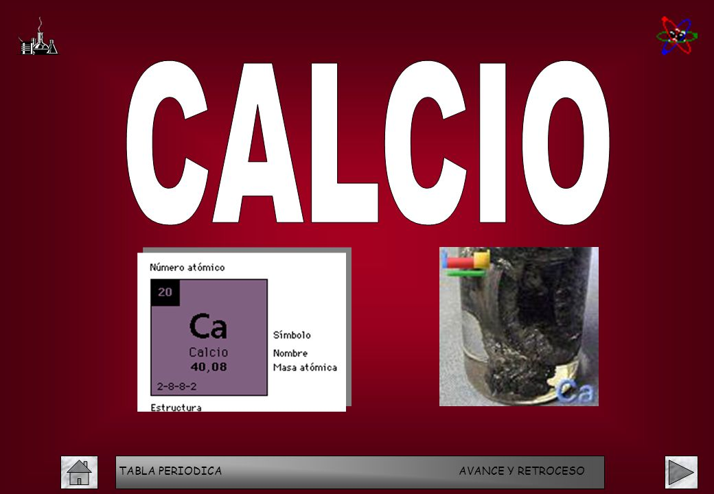 Programa interactivo tabla peridica de los elementos acceso salir 52 calcio tabla periodica avance y retroceso urtaz Image collections