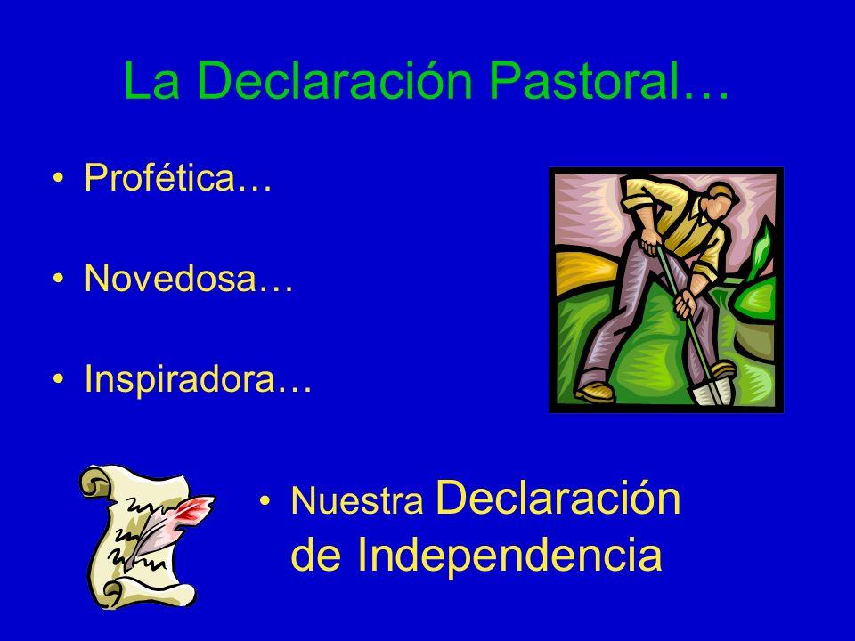 La Declaración Pastoral…