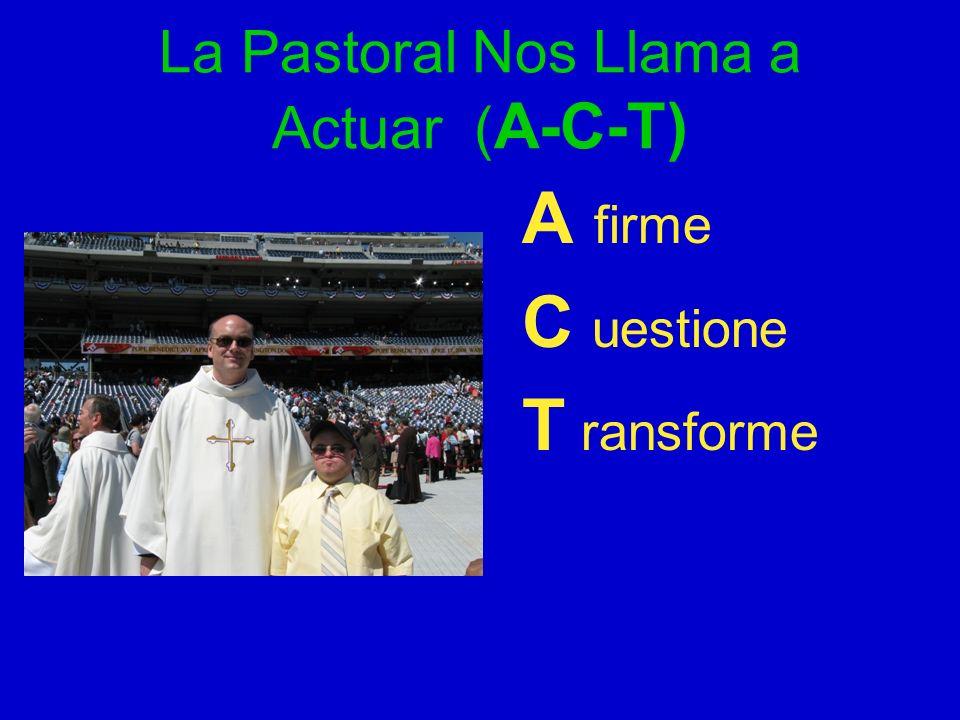 La Pastoral Nos Llama a Actuar (A-C-T)