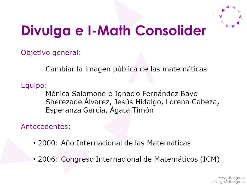 Divulga e I-Math Consolider