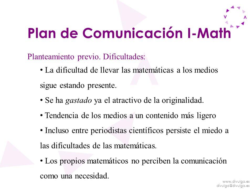 Plan de Comunicación I-Math