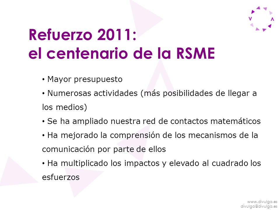 el centenario de la RSME