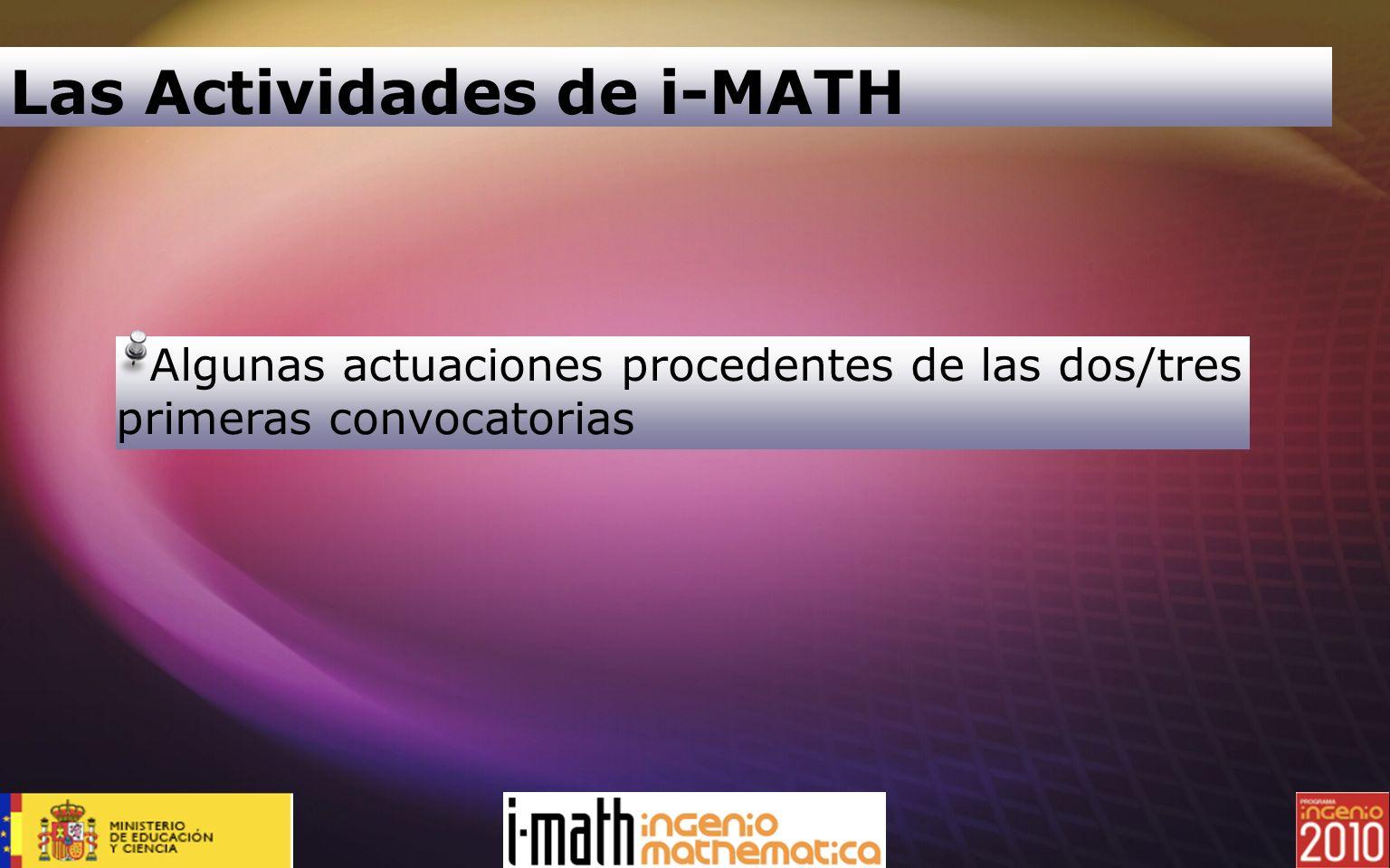 Las Actividades de i-MATH