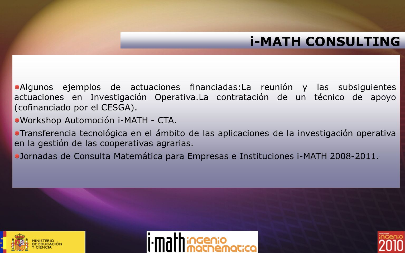 i-MATH CONSULTING