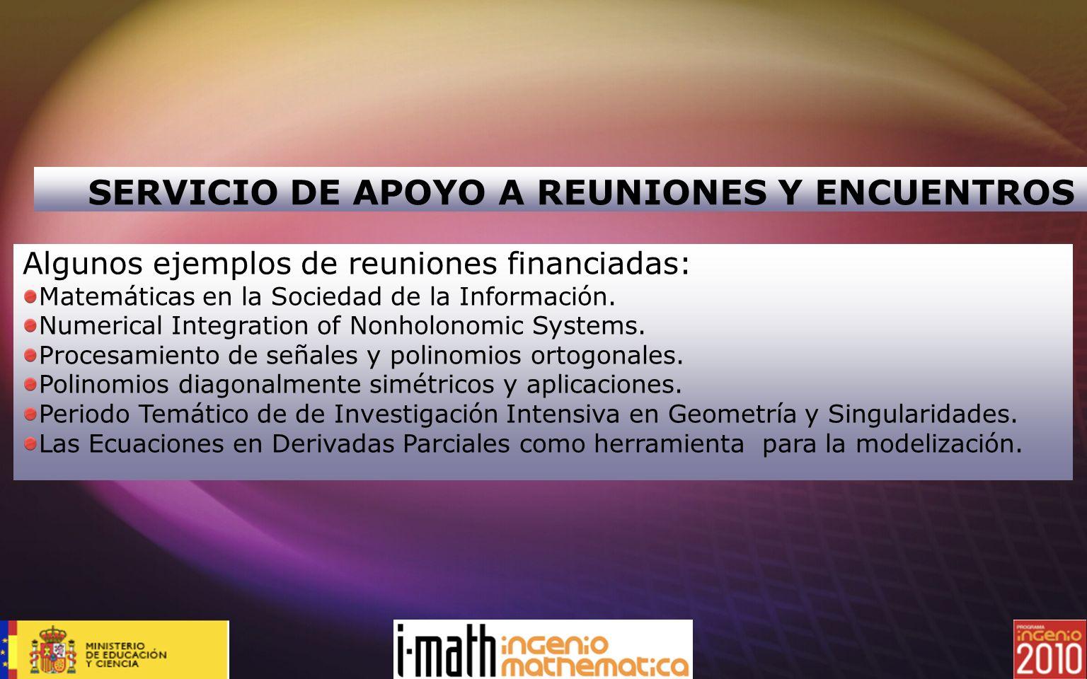 SERVICIO DE APOYO A REUNIONES Y ENCUENTROS