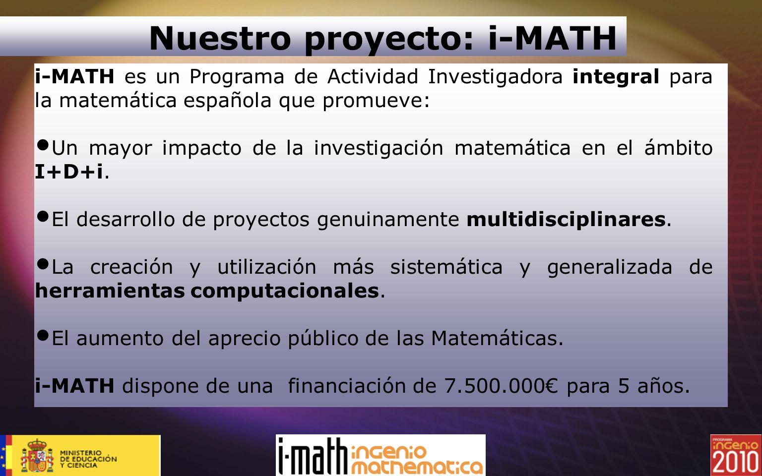 Nuestro proyecto: i-MATH