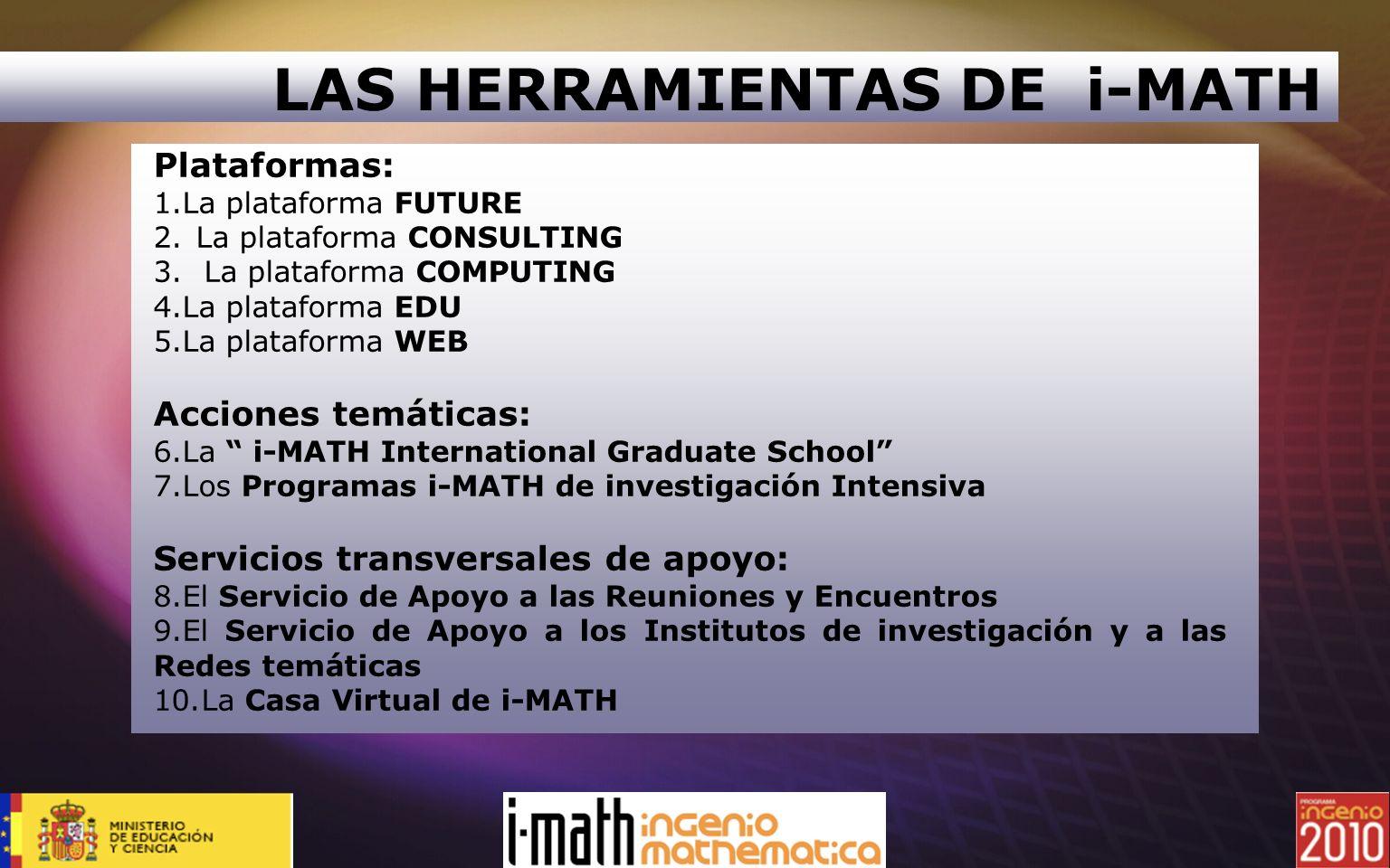 LAS HERRAMIENTAS DE i-MATH