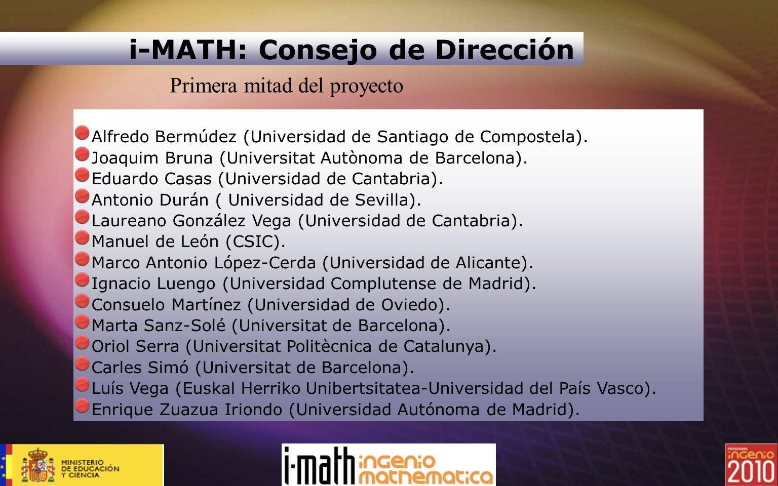 i-MATH: Consejo de Dirección
