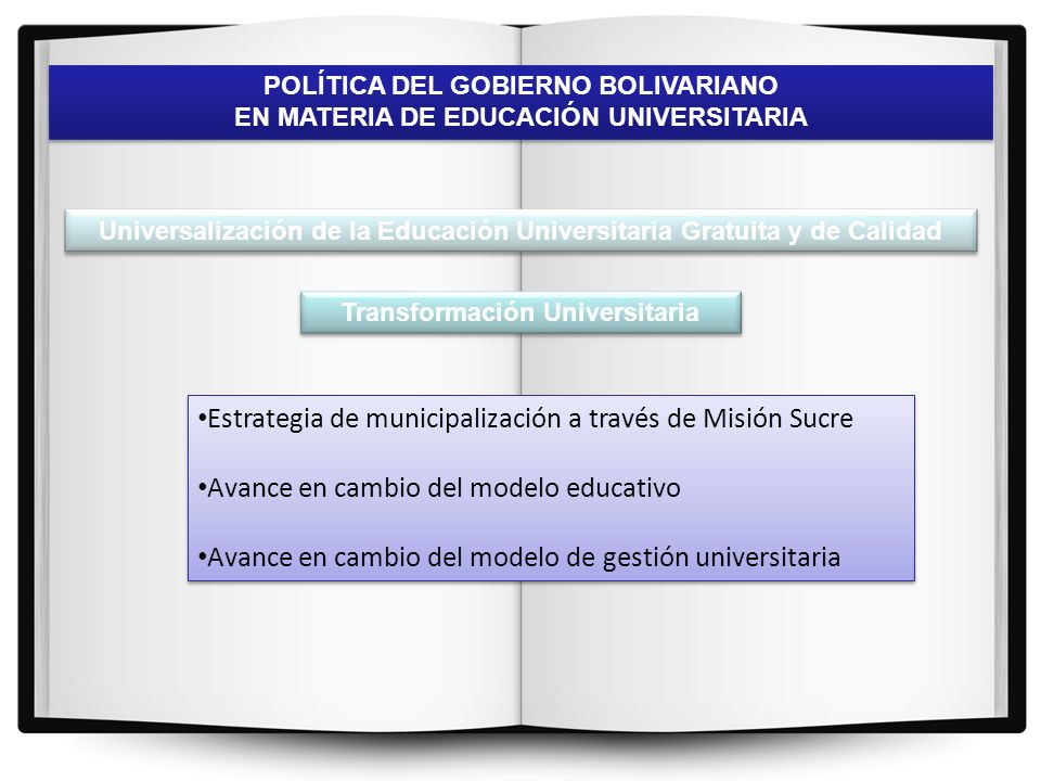 Estrategia de municipalización a través de Misión Sucre