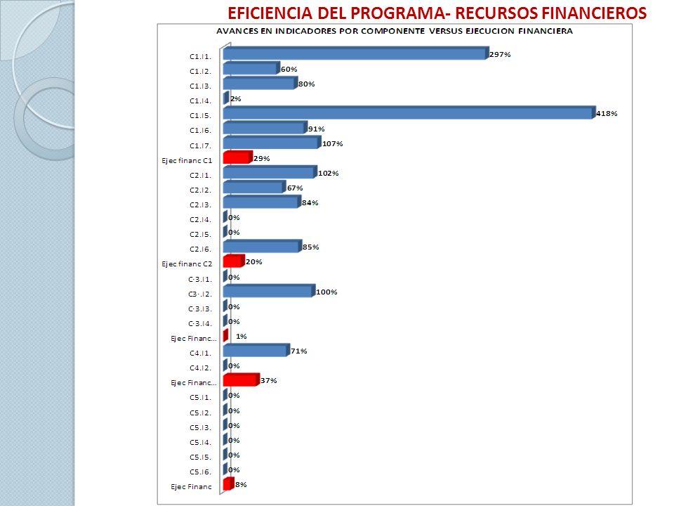 EFICIENCIA DEL PROGRAMA- RECURSOS FINANCIEROS