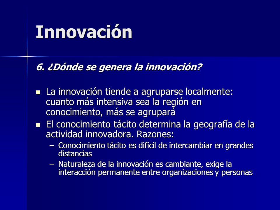 Innovación 6. ¿Dónde se genera la innovación
