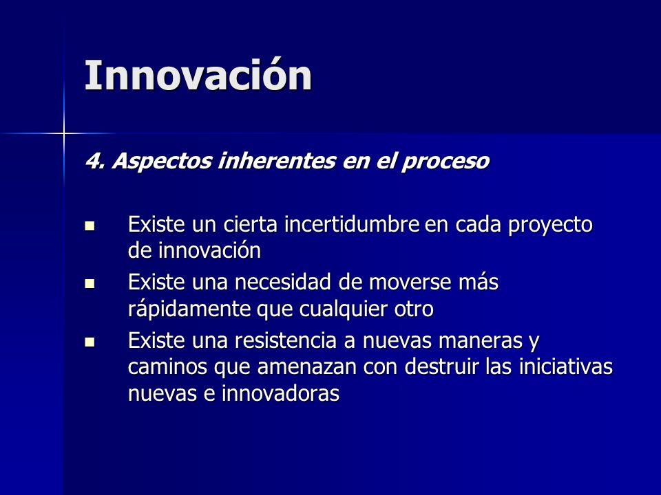 Innovación 4. Aspectos inherentes en el proceso