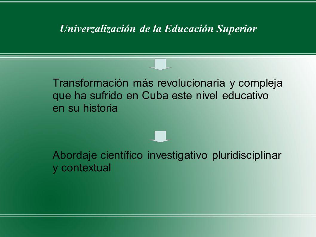 Univerzalización de la Educación Superior