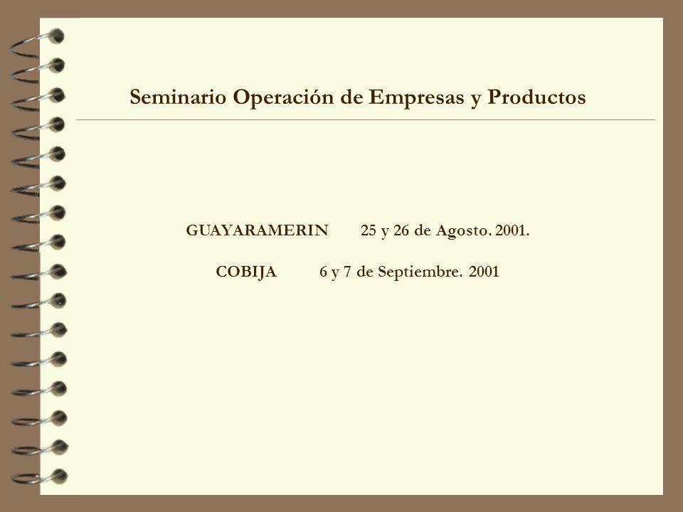 Seminario Operación de Empresas y Productos
