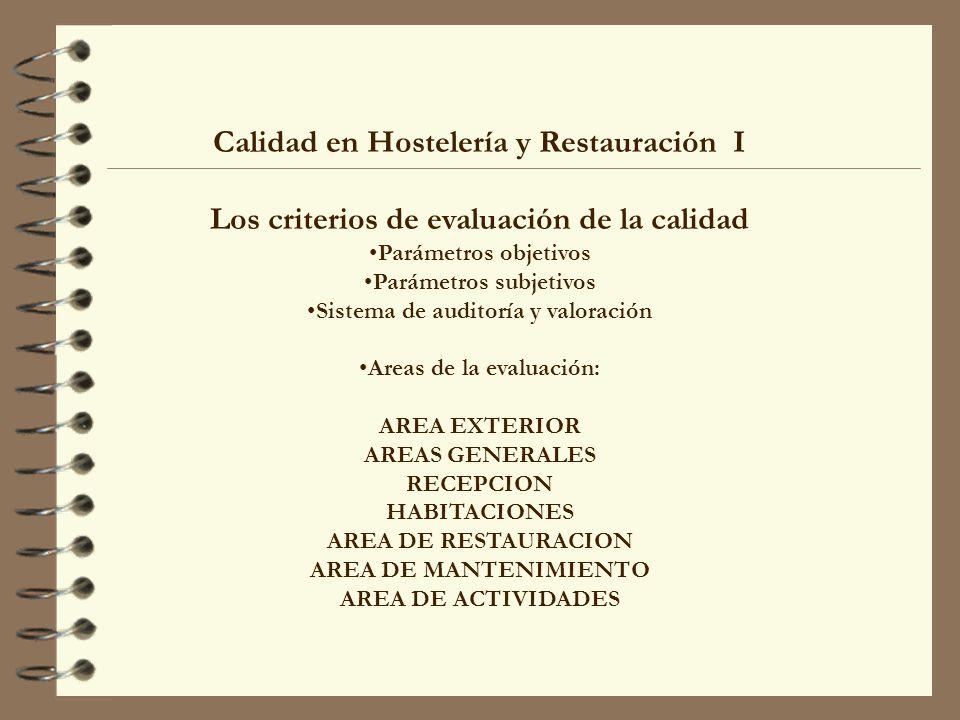 Calidad en Hostelería y Restauración I