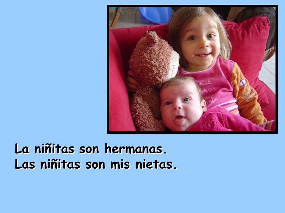 La niñitas son hermanas.
