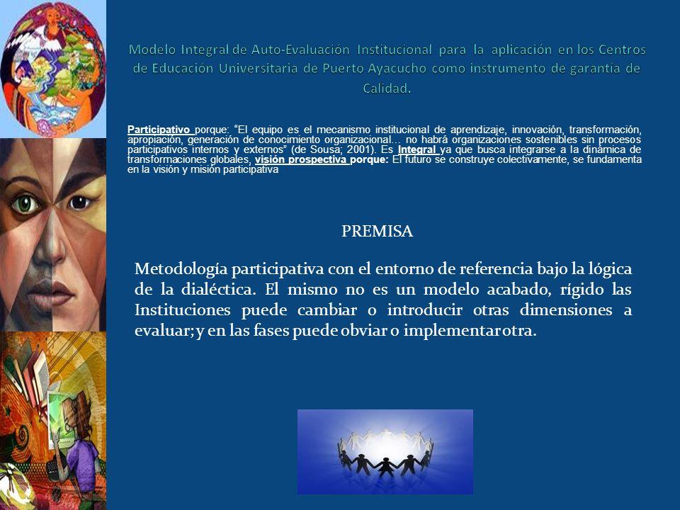 Modelo Integral de Auto-Evaluación Institucional para la aplicación en los Centros de Educación Universitaria de Puerto Ayacucho como instrumento de garantía de Calidad.