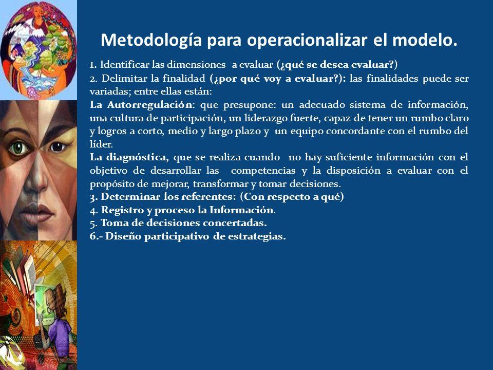 Metodología para operacionalizar el modelo.