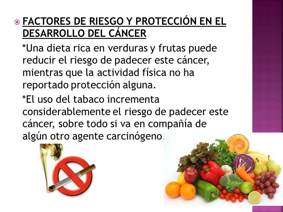 FACTORES DE RIESGO Y PROTECCIÓN EN EL DESARROLLO DEL CÁNCER