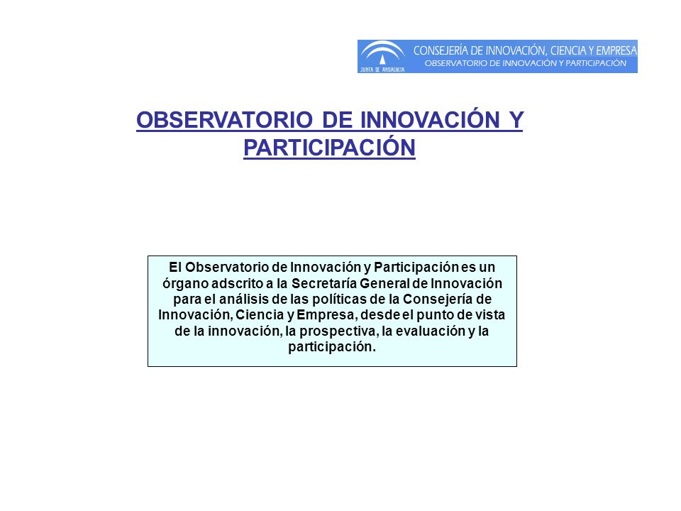 OBSERVATORIO DE INNOVACIÓN Y PARTICIPACIÓN