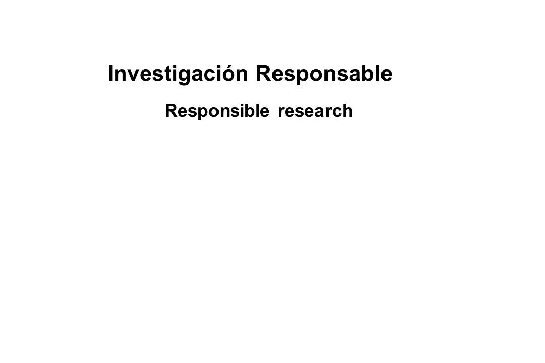Investigación Responsable