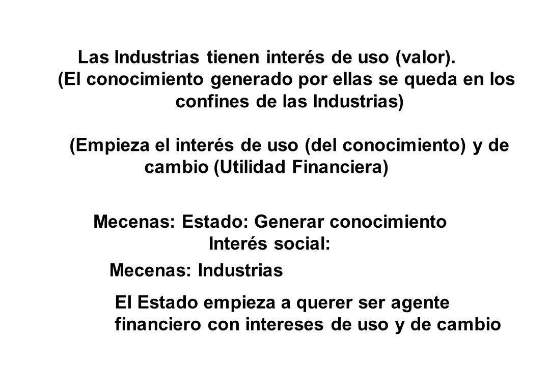 Las Industrias tienen interés de uso (valor).