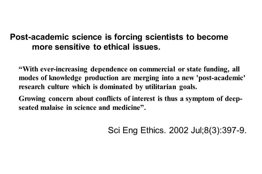 Sci Eng Ethics. 2002 Jul;8(3):397-9.