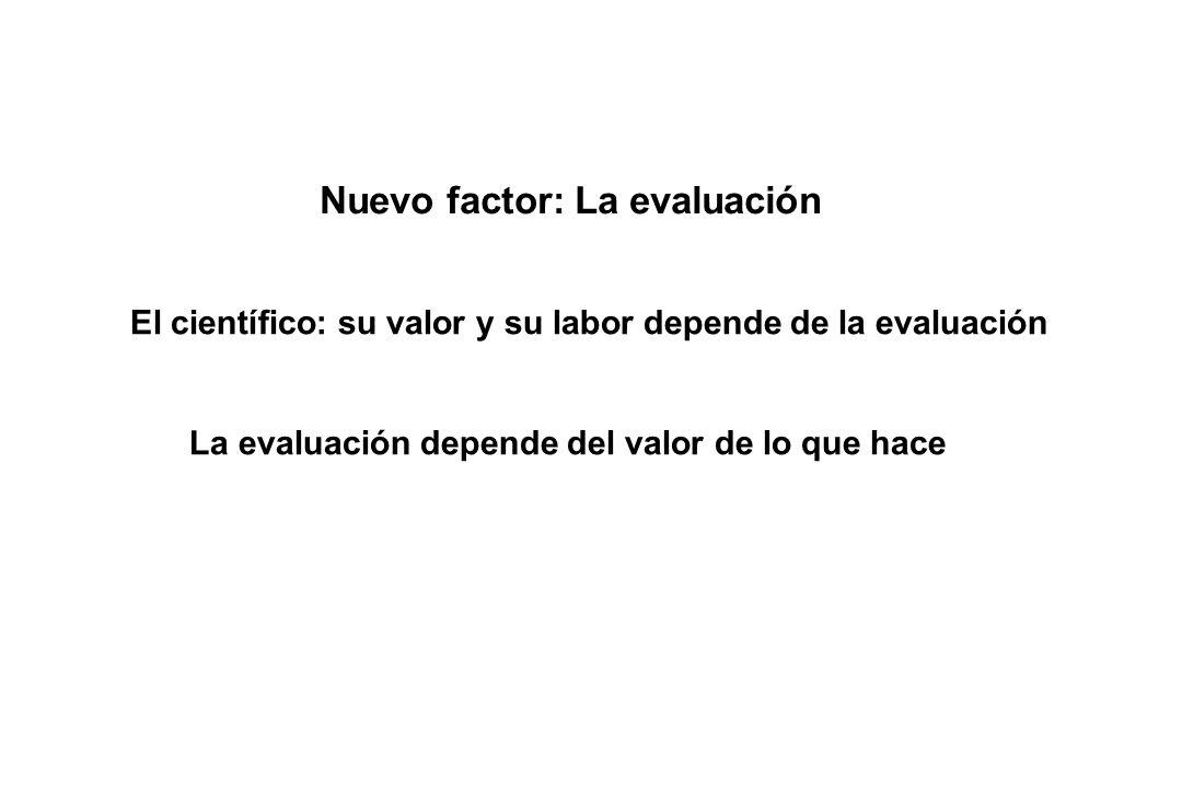 Nuevo factor: La evaluación