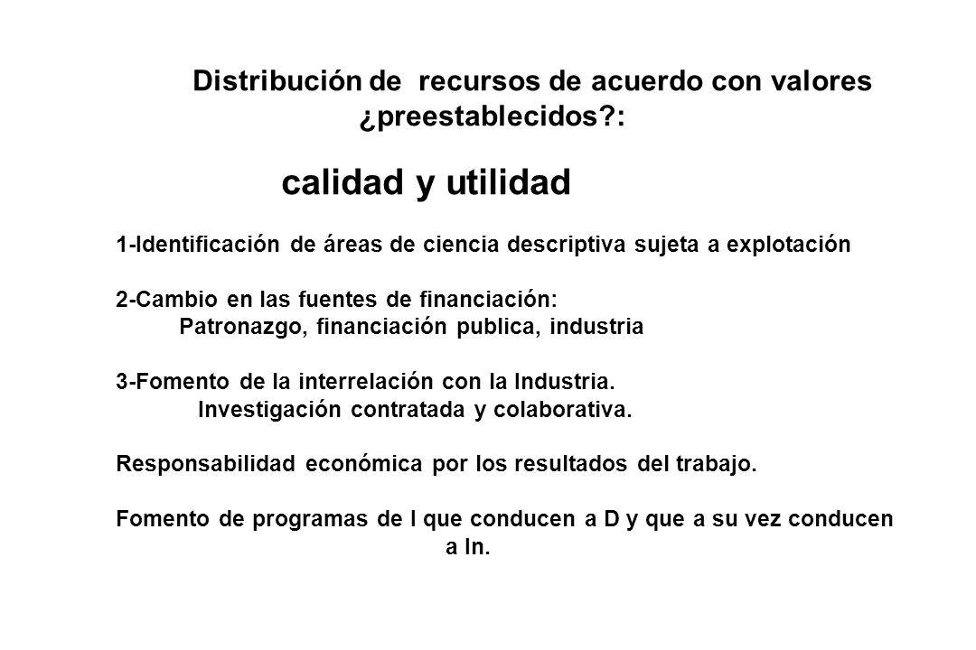 Distribución de recursos de acuerdo con valores ¿preestablecidos :