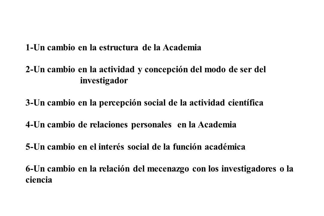 1-Un cambio en la estructura de la Academia