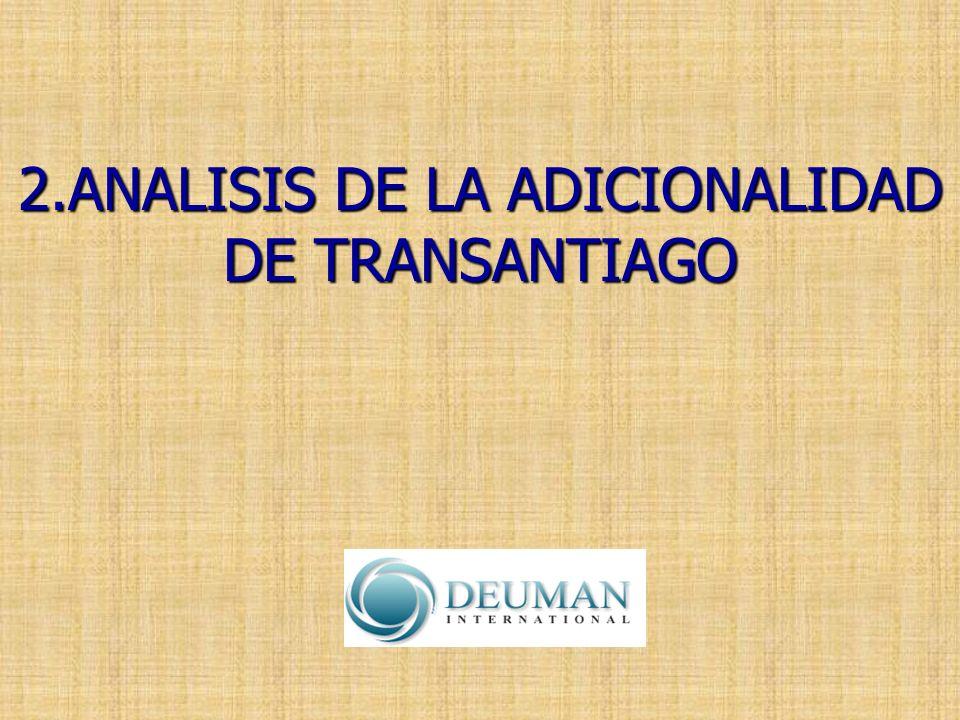 2.ANALISIS DE LA ADICIONALIDAD DE TRANSANTIAGO