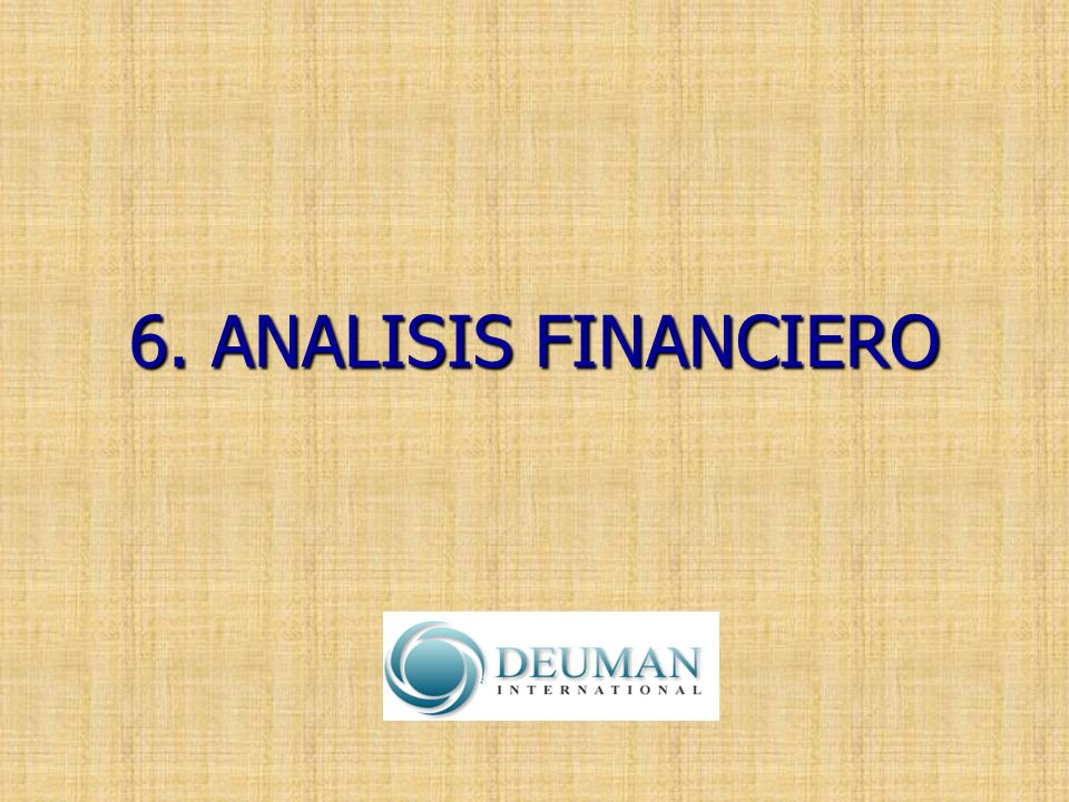 6. ANALISIS FINANCIERO