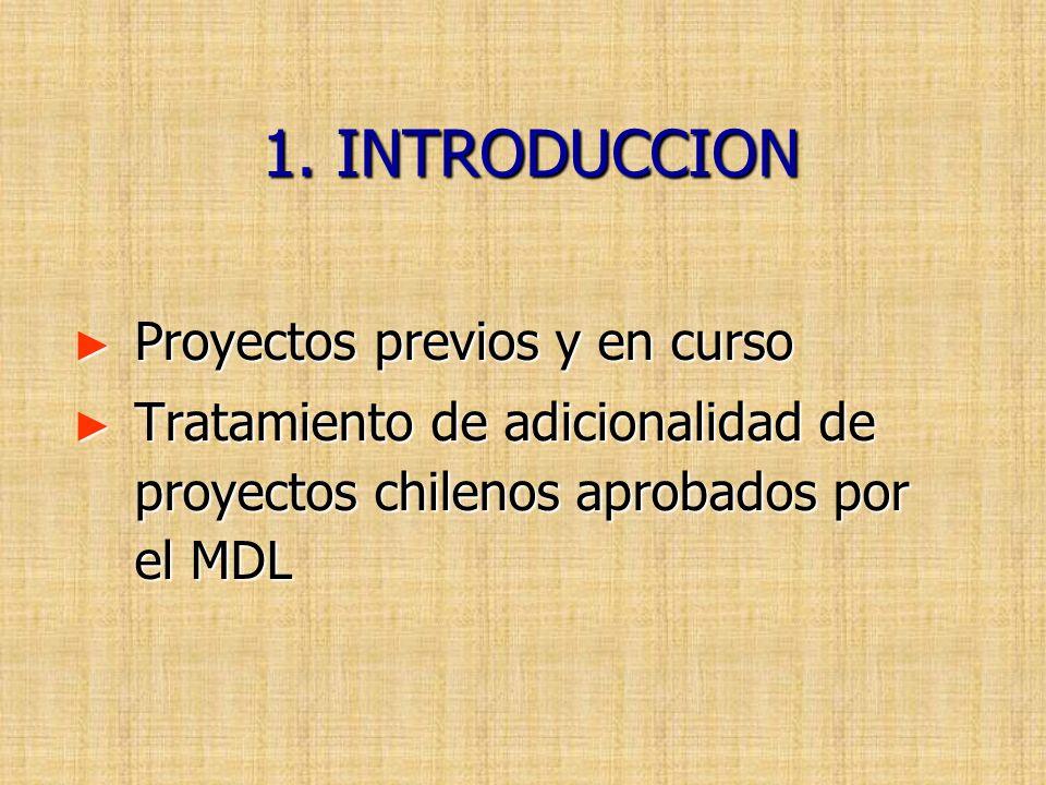 1. INTRODUCCION Proyectos previos y en curso