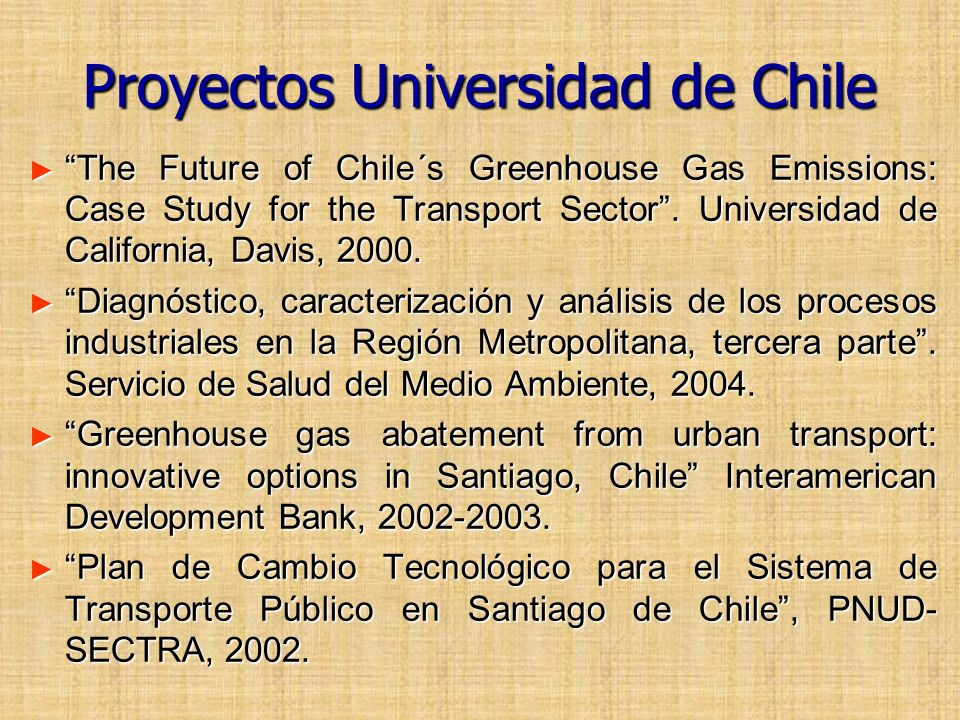 Proyectos Universidad de Chile